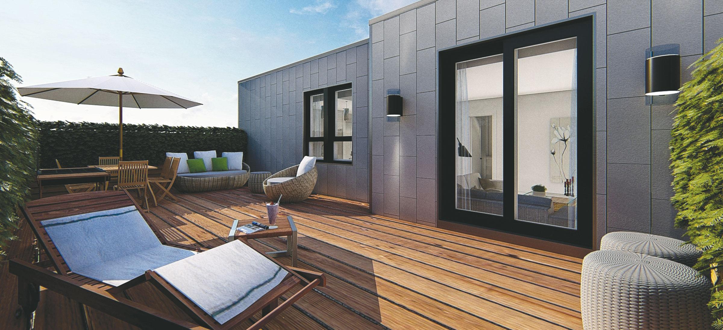 Terrasse en bois de Joia St-Hyacinthe
