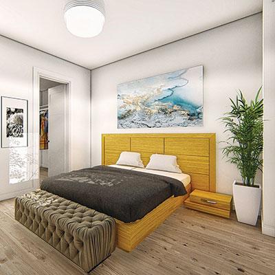Chambre à coucher d'un appartment à louer Joia St-Hyacinthe