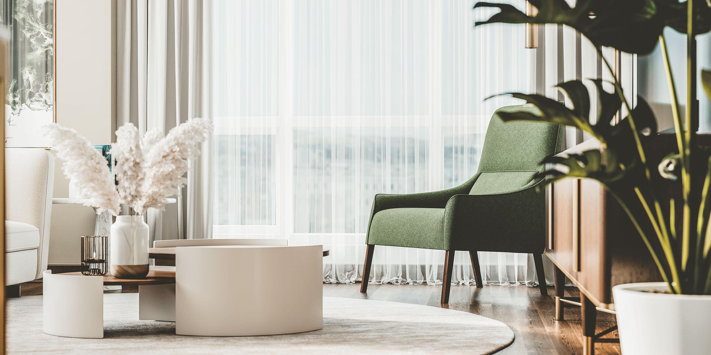 Table et chaise dans un condo joia